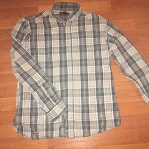 21 men's large long sleeve button down shirt